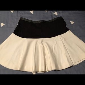 Black and White Leather Skirt